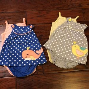Carter's Bundle x2- Toddler Girls Sunsuits, sz 12m